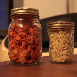 Dehydrated Onions and Carrots