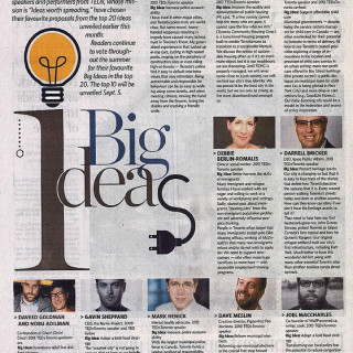 Joel in the Toronto Star – Supporting Big Ideas