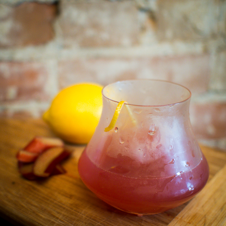 Rhubarb Whisky Sour Recipe