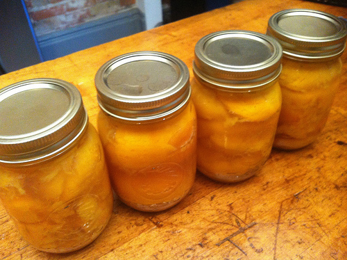 Canned Peaches Preserving