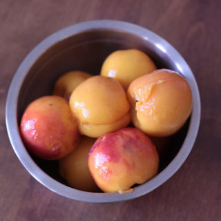 Preserved Peach Slices With Maderia