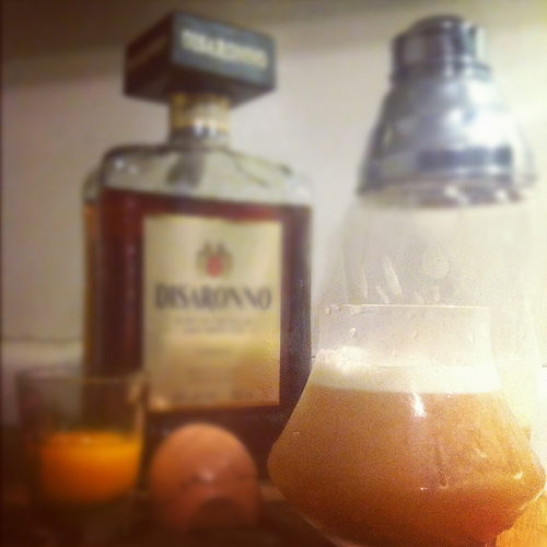 amaretto sour recipe with maple syrup