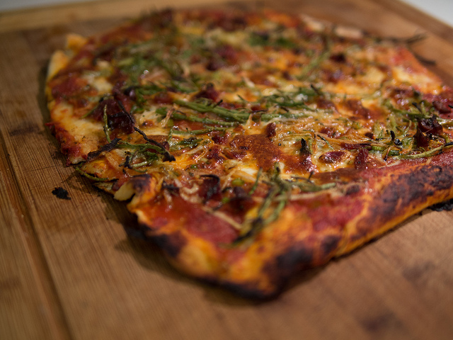 Sea Asparagus Pizza 1