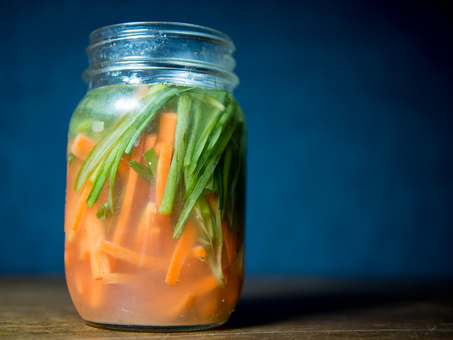 fermented green onion and carrots
